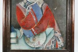 18e / 19e Siècle Chinese Reverse Glass Mirror Portrait Peinture