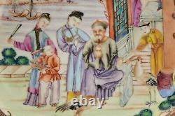 18ème Siècle Chinois Famille Rose Bol En Porcelaine Avec Des Caractères Mandarins