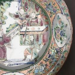 19 Antique C Chinois Famille Assiette En Porcelaine Rose