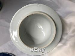 19c / 20e Siècle Paire De Pot De Gingembre En Porcelaine Blanc Bleu Chinois Vases 20 Haute
