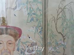 2 Très Beaux Et Beaux Portraits D'ancêtres Chinois Peints À La Main