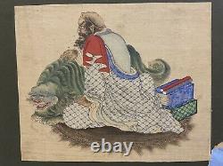 2 X Belles Peintures Chinoises De Soie Du 19ème Siècle De Luohans- Bouddha, Tibétain, Qing