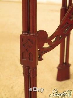 44176e Table D'appoint Chippendale En Acajou Sculpté Sculpté Chinois