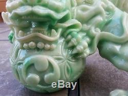 5h Chinois Chanceux Lion Foo Dogs Statue