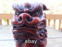 7h Feng Shui Chinois Foo Chiens Statue Richesse Chanceux Cadeaux Figurine & Home