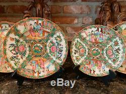 8 Pc. Antiquité Rose Chinoise Assiette En Porcelaine De Chine Famille Rose