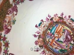 A Fine Chinese C 18 Export Porcelain Punch Bowl C. 1775. Période Qianlong