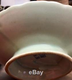 Ancien Assiette À Porcelaine Chinoise En Porcelaine De Celadon Da Long Qian Long Fish
