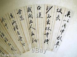 Ancien Personnage De Collectionneur Chinois À La Main Peint À La Main Avec Calligraphie Et Poésie Art