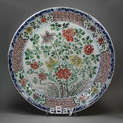 Ancien Plat Chinois De La Famille Verte, Début Kangxi (1662-1722)
