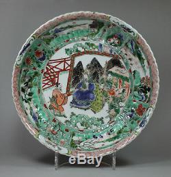 Ancien Plat Moulé De La Famille Verte, Kangxi (1662-1722)