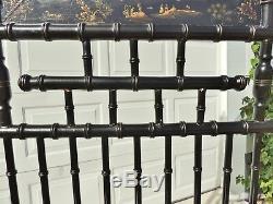 Antique 88 Chinois Faux Bambou Or Noir Miroir Portemanteau Porte-parapluies Porte