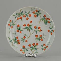 Antique Assiette Chinoise Qing Dynastie 19ème Daoguang Porcelaine Artiste Marqué