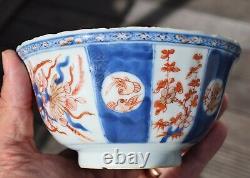 Antique Bol Chinois Imari, Période Kangxi