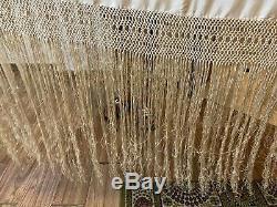 Antique Chinois Brodé Main Pure Soie Piano Shawl 54 X54 Fringe 20 Multi