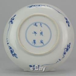 Antique Chinois Ca 1700 Kangxi Chinois Plat En Porcelaine Chenghua Marqué Eggshell