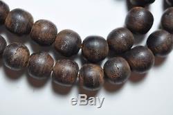 Antique Chinois Chine Qing Agarwood Qinan Kynam Mala Collier Perles De Prière 1900
