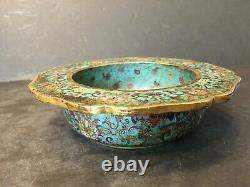 Antique Chinois Cloisonne Censer, 18ème Siècle, Marque Et Période De Qianlong