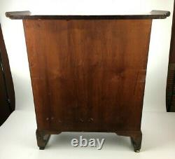 Antique Chinois Counter Top Small Medicine Apothicaire Cabinet Chest Table Ds66