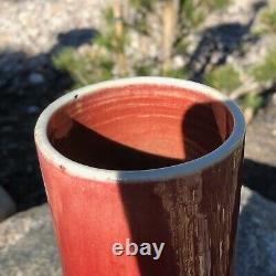 Antique Chinois Vase En Porcelaine Red Oxblood Glaze, Large, Sang De Boeuf
