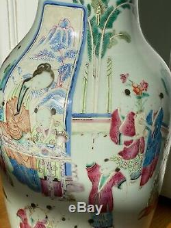 Antique Chinois Vase En Porcelaine Tongzhi Epoque 19ème Centry Qing