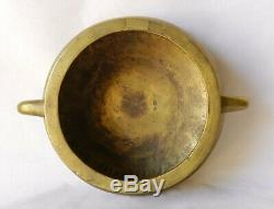 Antique Chinois Xuande Mark Handled Bronze Encensoir