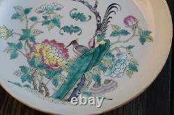 Antique Chinoise Famille Rose Plaque Guangxu Période #2