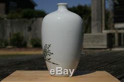 Antique Début 20thc République Chinoise Période Vase Famille Rose Figure Signé