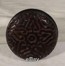Antique Ou Vintage Chinois Japonais Guri Tixi Boîte De Pâte De Pâte De Bijoux