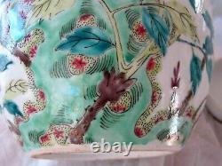 Antique Porcelaine Chinoise Famille Rose Ginger Jar Kangxi Marque