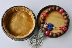 Antiquité Chinoise Chine Qing Agarwood Bouddhiste Mala Bracelet Prière Perles 1900