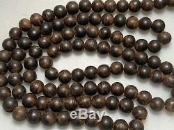 Antiquité Chinoise Chine Qing Agarwood Qinan Kynam Mala Collier Prière Perles 1900