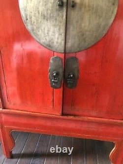 Armoire Rouge Chinoise Antique Cabinet 43 Large 70 Tall