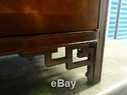 Baker Furniture Buffet / Buffet Chinois Extrême-orient Asiatique Burl Ash / Noyer B / O