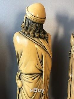 Belle Sculpture Chinoise Du Xixe Siècle À Huit Sculptures D'immortelles