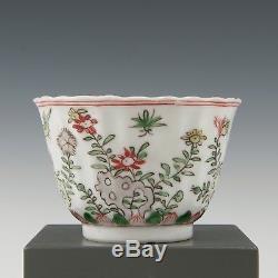 Belle Tasse Et Soucoupe Chinoise Famille Verte, Époque Kangxi, Oiseau Et Fleurs