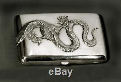 Boite À Cigares Dragon Silver C1880 Wang Hing