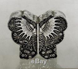 Boîte À Papillons En Argent, Exportation Chinoise
