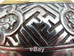 Boîte De Noix De Bétel Des Détroits Antiques De Chine, Argent Doré Env. La Malaisie Des Années 1800 Peranakan