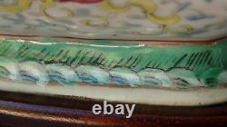 Bol Chinois Antique De Porcelaine De Place De Rose Avec La Marque Rouge De Qing De Tongzhi