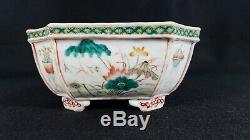 Bol De Jardinière En Porcelaine Antique
