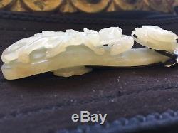 Boucle De Ceinture En Jade Blanc, 18ème, Argent