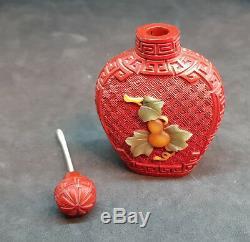 Bouteille Snuff Chinoise Chinoise Antique Du 19ème Siecle