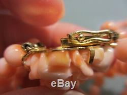 Bracelet Antique Triple Brin Chinois 20 Saumon Coral Bead Collas Avec Carré Rose