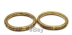 Bracelet De Manchette En Bambou En Argent Sterling À Motif Chinois En Or Fin 1900 Avec Filigrane D'argent