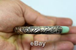 Bracelet Vintage En Argent Et Jade Naturel Chinois