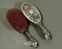 Brosses À Cheveux Argent Exportation Chinoise (2) C1890 Hung Chong