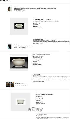 Brûleur D'encens De Chine Dehua En Porcelaine De Chine De Chine Encensoir, Dynastie Qing