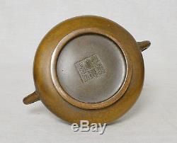 Brûleur D'encens En Bronze Chinois Avec Marque M2691