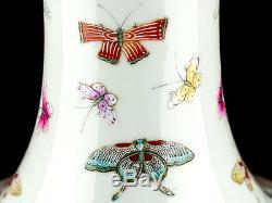 C1870 Vase De Bouteille Papillon Guangxu 100 Chinois